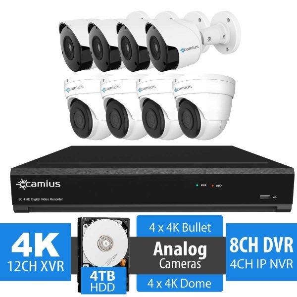 Camius 4K 8 channel DVR security camera system 124K4b4D4T
