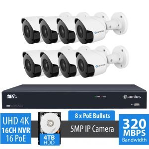 8-IP-camera-security-system-with-4K-16-Channel-NVR-8-PoE-Bullets-4TB