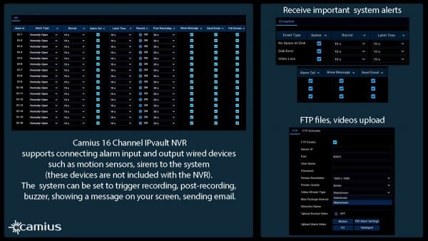 network video recorder IP security cameras