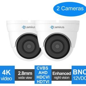 Camius 2 pack 4k dome security camera