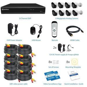 camius 8 security cameras 8channel dvr 4k 3tb