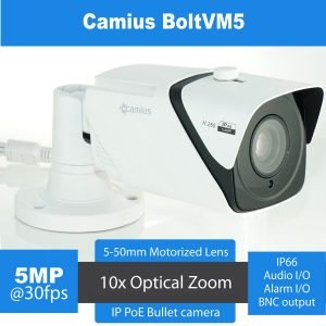 Intelligent 2K PoE Motorized Lens IP Camera 10x Zoom Bullet varifocal camera