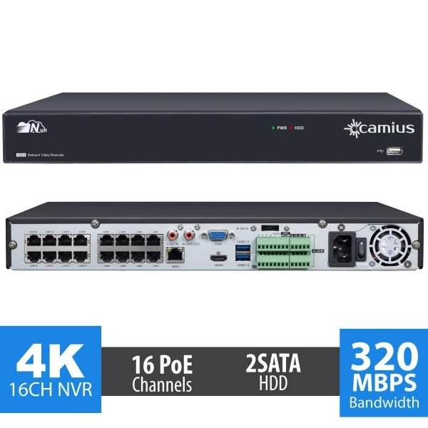 camius 16 camera system 4k network video recorder