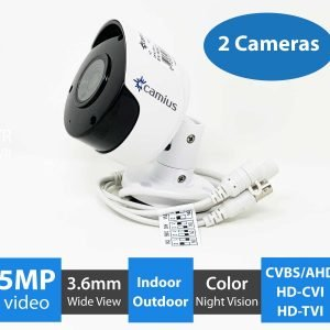 2 camera pack 5mp security camera