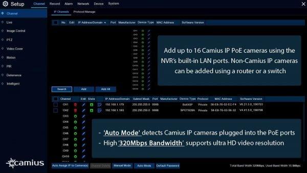 camius poe security system IPvault2320P16 NVR