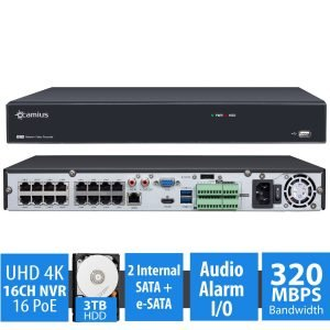 Camius 16 channel 4K NVR