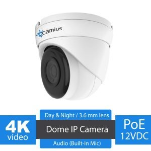 Camius Iris8 4k dome ip camera