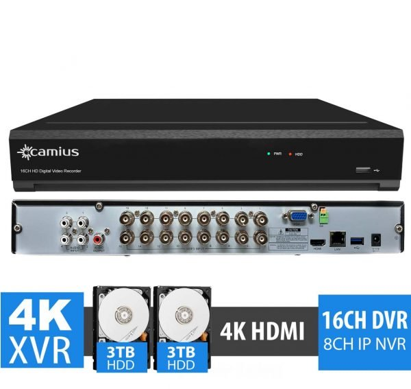 Camius 4K Security DVR 16 channel TRIVAULT4K2168 6TB