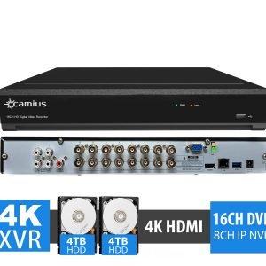 Camius 4K 16 Channel DVR trivault4k2168 8TB HDD