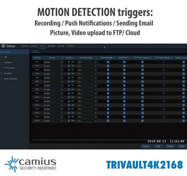 Camius 16 channel dvr recorder for cameras