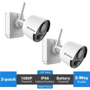 Camius 2 pack battery wireless security camera