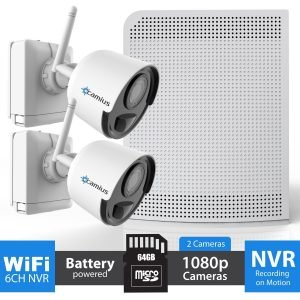 Camius battery operated wireless - security camera system -WFK264GB 729728657296