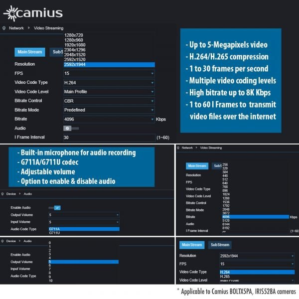 camius security ip poe camera surveillance